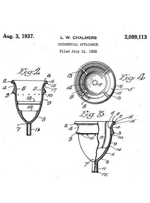 Чаша, которую создала Леона Чалмерс. Ее нужно было сложить и вставить во влагалище. Источник: Saalt