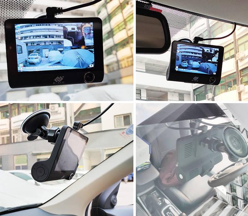 Самый типичный видеорегистратор: крепление к стеклу на присоске, питание от прикуривателя в салоне, большой экран. Фото: «Алиэкспресс»