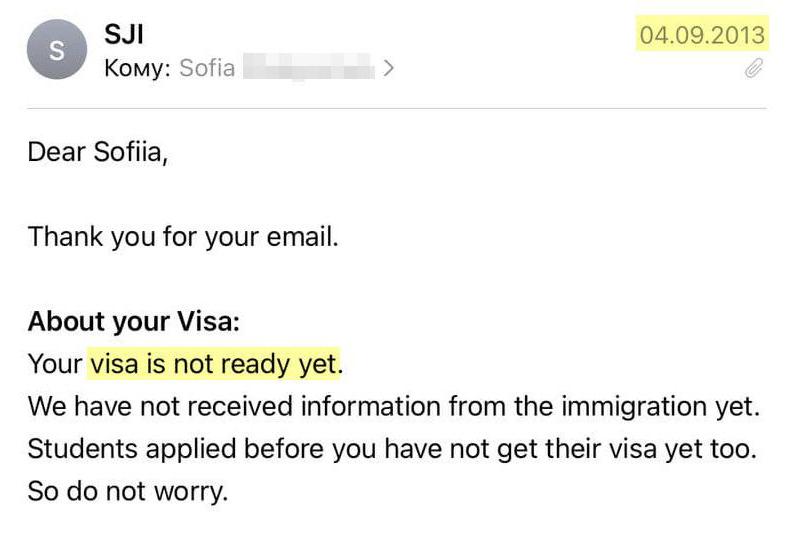 Оставался ровно месяц до отлета, а сертификат, который мне должны были прислать, чтобы я пошла в консульство за своей визой, еще не был готов