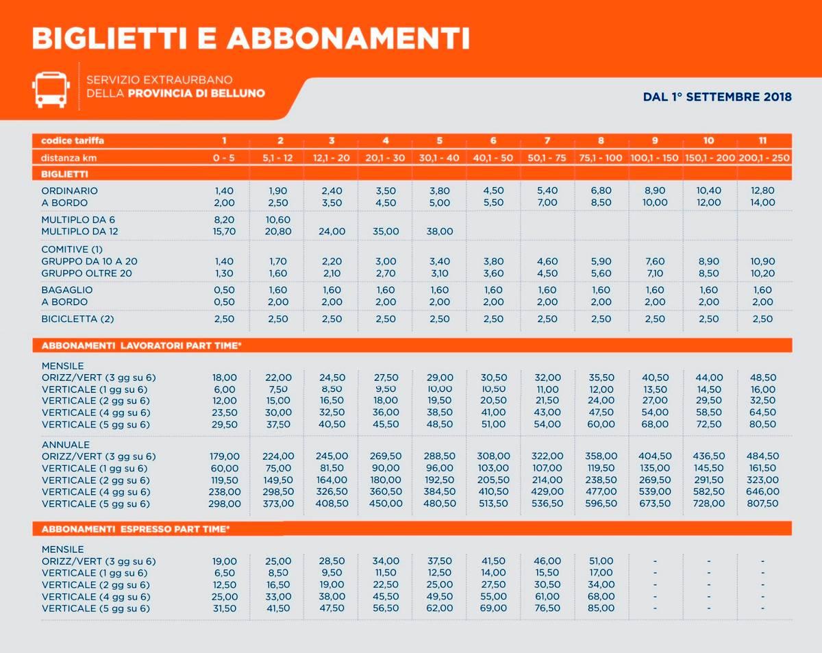 Примеры цен на автобусы «Доломити-бус»