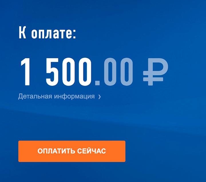 Кнопка «Оплатить сейчас» позволит заплатить все за один раз