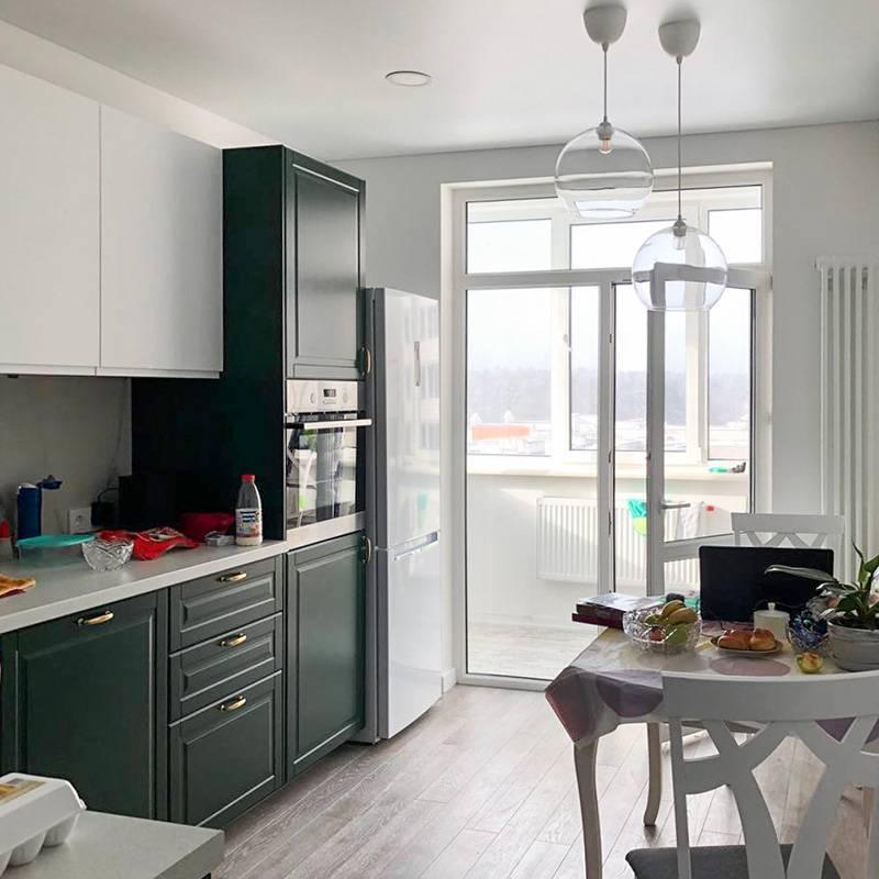 Так будет выглядеть кухня через пару дней, когда бабушка начнет обживать квартиру