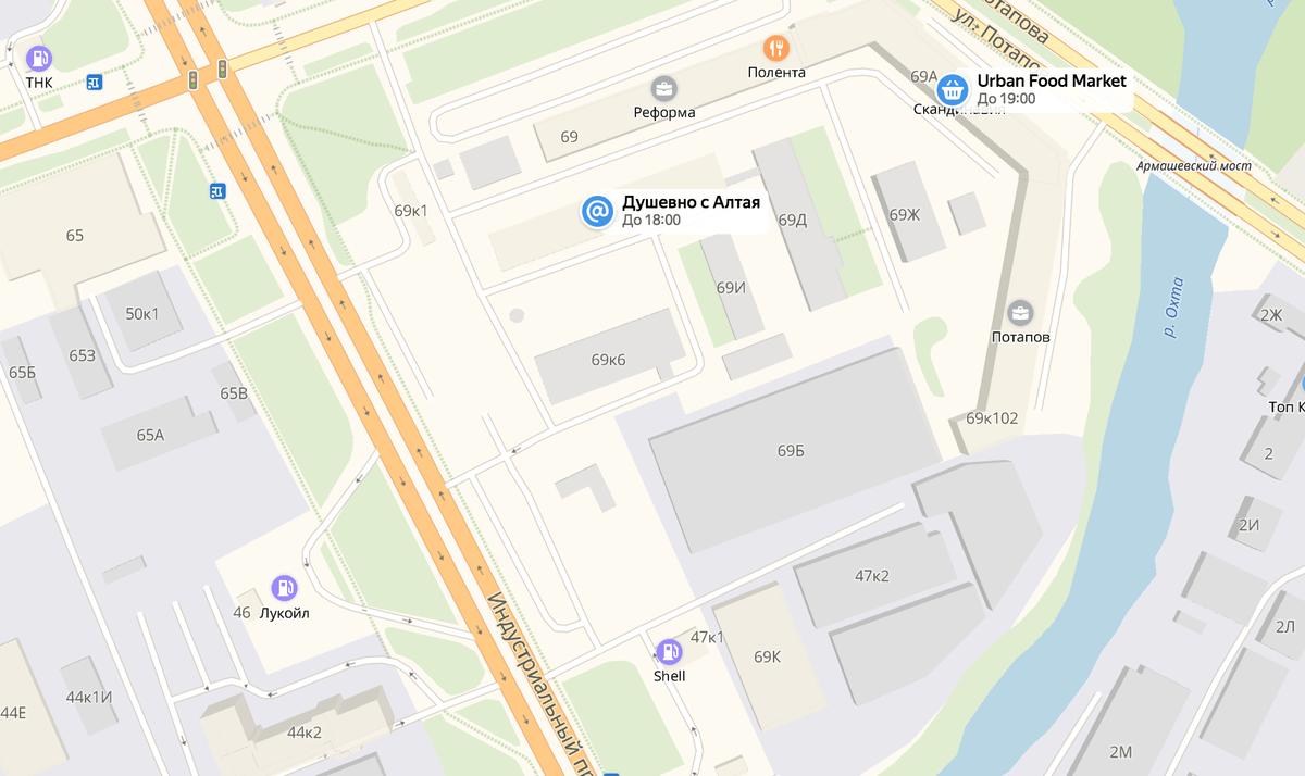 Пример плохой инфраструктуры в районе Санкт-Петербурга: поблизости только два продуктовых магазина, которые не работают ночью