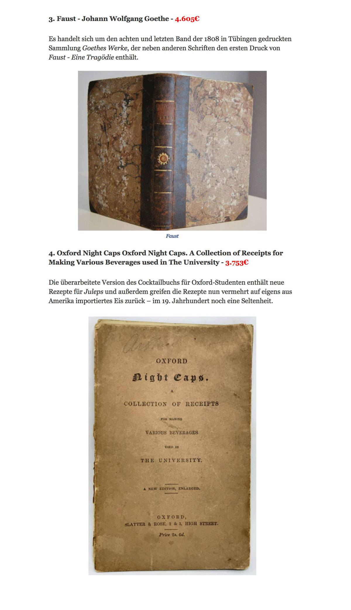 4605€ стоит первое издание самого знаменитого произведения Гете — «Фауста»