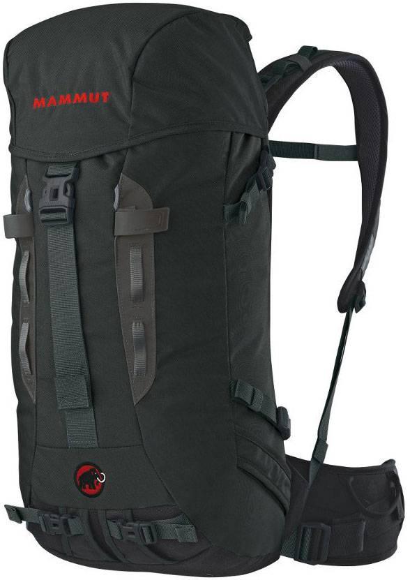 Штурмовой рюкзак на 40 л. На маршрут альпинист берет только самое необходимое: перекус, питье, веревку, снаряжение. Разгрузочные петли для карабинов и утяжки для ледоруба помогают быстро дотянуться до нужного снаряжения. В таком рюкзаке много не унести: вместимость меньше, чем у походного, и на большие нагрузки он не рассчитан. Штурмовой рюкзак стоит от 5000<span class=ruble>Р</span>. Источник: Risk.ru