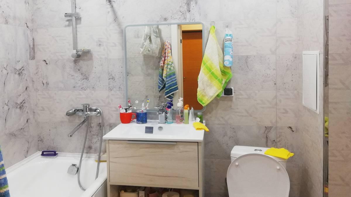Я отремонтировал ванную в новостройке за 171 124 ₽