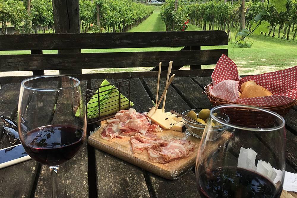 Вспоминаем наш аперитив на винодельне в Тоскане