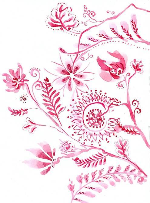 Параллельно с просмотром «Друзей» рисовала медитативные цветочки акварелью, чтобы у мыслей не было ни единого шанса просочиться