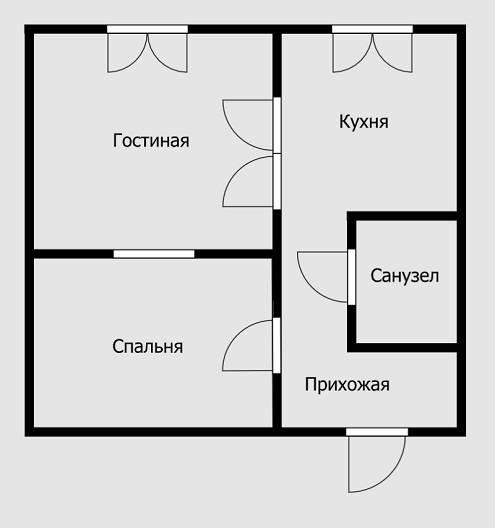 Из-за этого спальня будет темной — естественного освещения в ней нет. Поэтому необходимо сделать светопрозрачную стену, предусмотреть окно или фрамугу под потолком