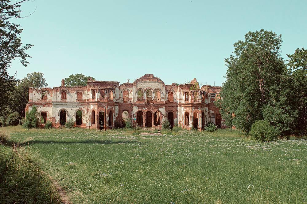 Вид на фасад усадьбы «Гостилицы»