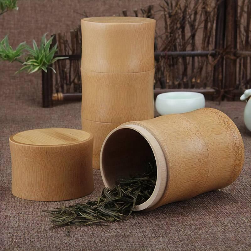 Контейнер для чая из бамбука, стоит от 422 рублей, пришлют за 22 дня. Искать по запросу bamboo tea canister