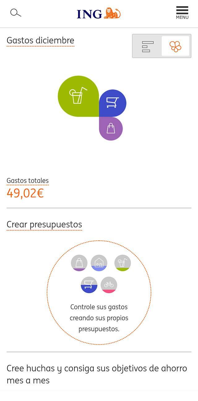 Приложение ING только на испанском. В первое время мне было тяжело разобраться, но сейчас привыкла, да и испанский подтянула