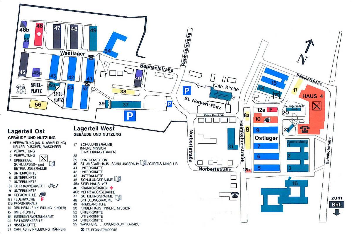 Карта лагеря Фридланд