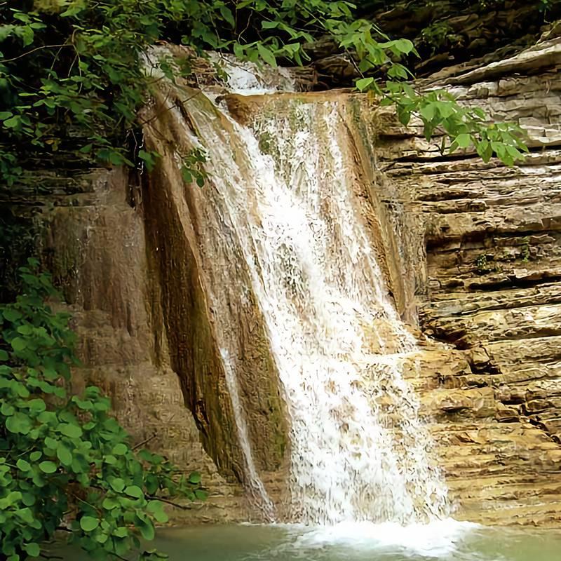 В группе Пшадских водопадов более сотни потоков. Самый большой водопад — Оляпкин, его высота 9метров. Источник:Southparkour Lemon/ Wikipedia