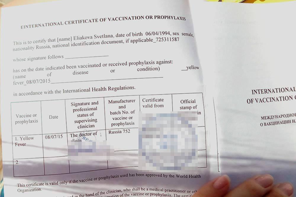 Так выглядит международный сертификат опрививках. Моя прививка действует до 2025года. Это означает, что если доэтого времени я соберусь поехать вдругие эндемичные страны, топовторная вакцинация мне непотребуется