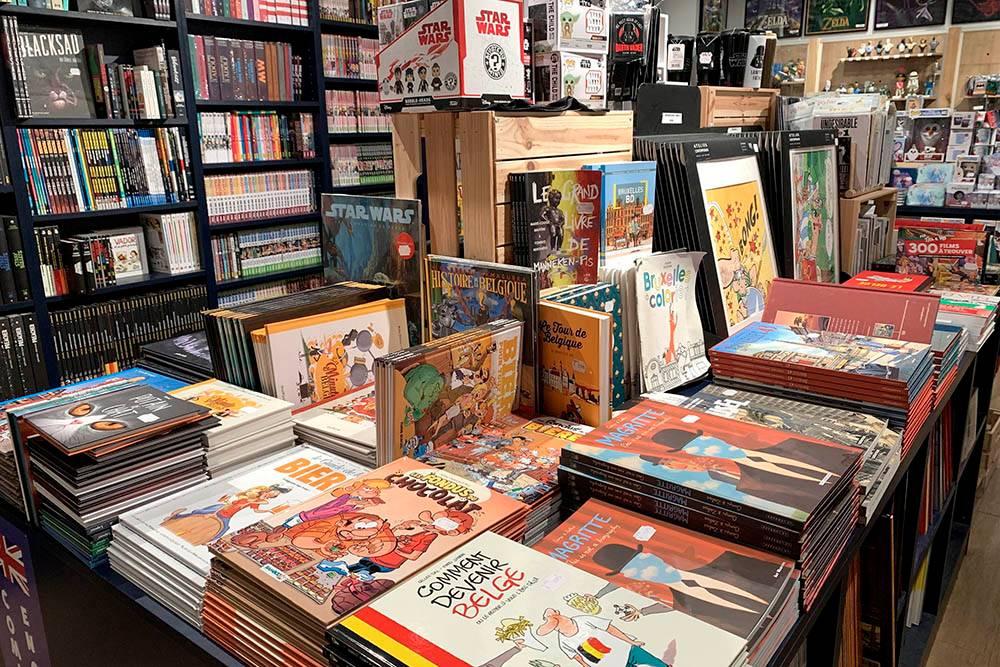 В Брюсселе есть целые магазины комиксов