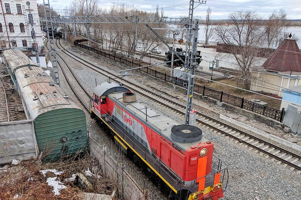 Около станции Пермь-1 в марте 2019 года