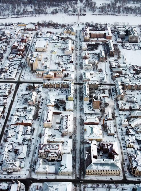 Центр Оренбурга представляет собой квадрат, разделенный улицами на строгие прямоугольники. Источник: Сергей Кутимский