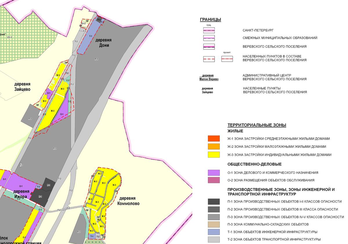 На карте схематично указываются территориальные зоны. Например, желтым выделены зоны Ж-3 длязастройки индивидуальными жилыми домами. А зона СХ-1 — дляведения садоводства и дачных хозяйств