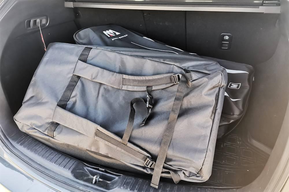 Перевозим сапы в багажнике. Если в следующем году купим еще два длядетей, то будет уже не так свободно
