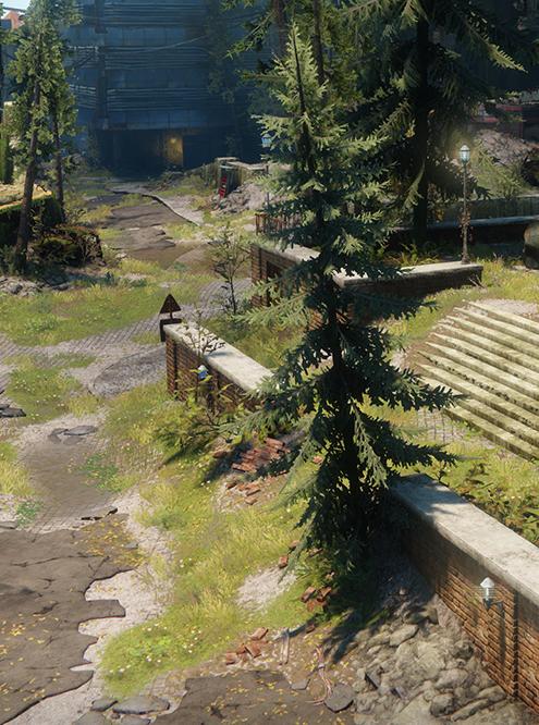 Максимальная дальность теней от растительности. Игра — Destiny 2. Источник: nvidia.com