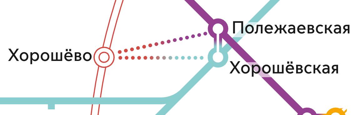 Переходы на МЦК обозначены точечными линиями. Но по схеме непонятно, какой они длины. Источник: «Московский транспорт»