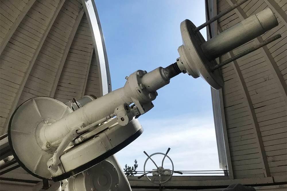 Солнечный вакуумный телескоп в астрофизической обсерватории в Листвянке