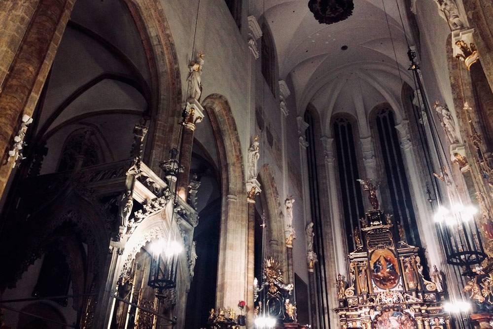 В Праге мы побывали на рождественском концерте в Тынском храме