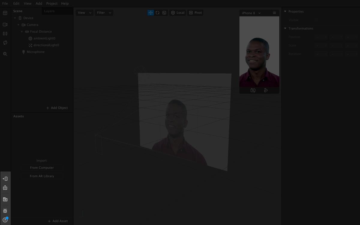 Тестирование маски, библиотека и справка — в левом нижнем углу программы