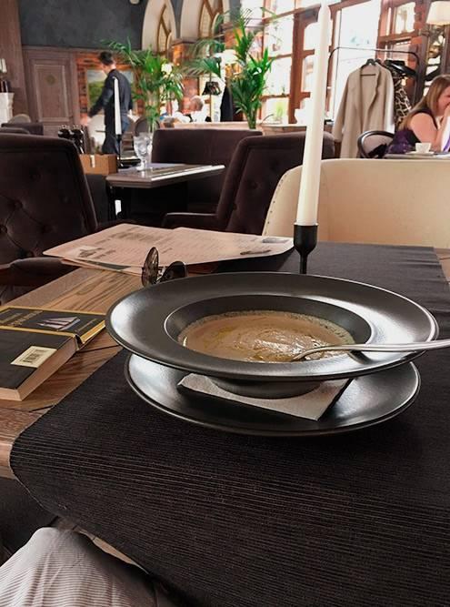 Грибной крем-суп там же