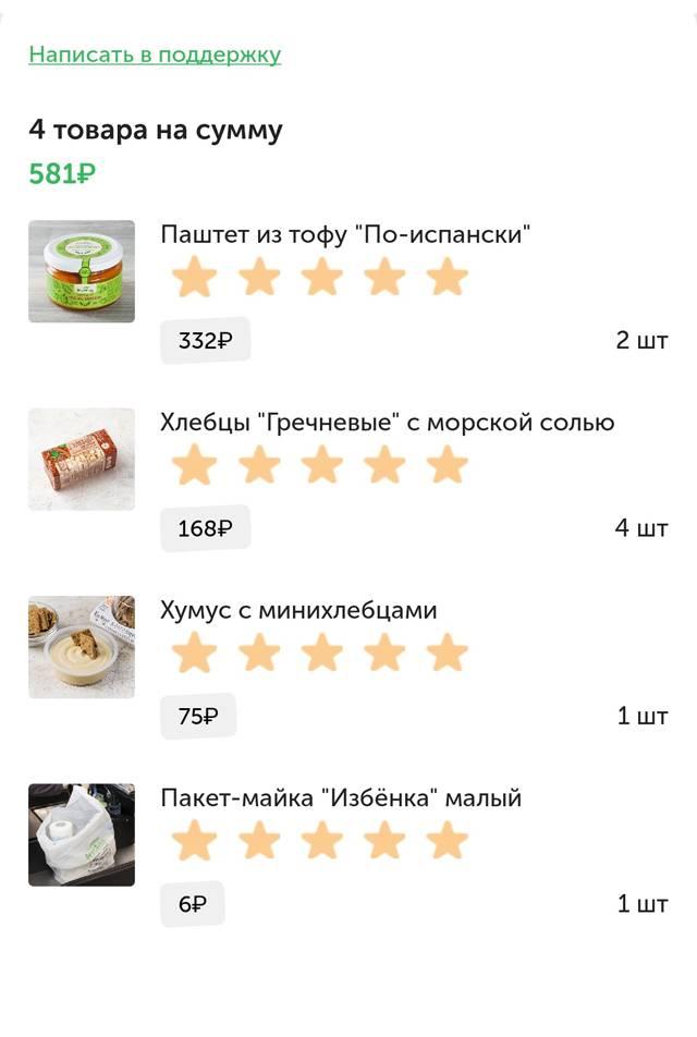 Заказы из «Вкусвилла»