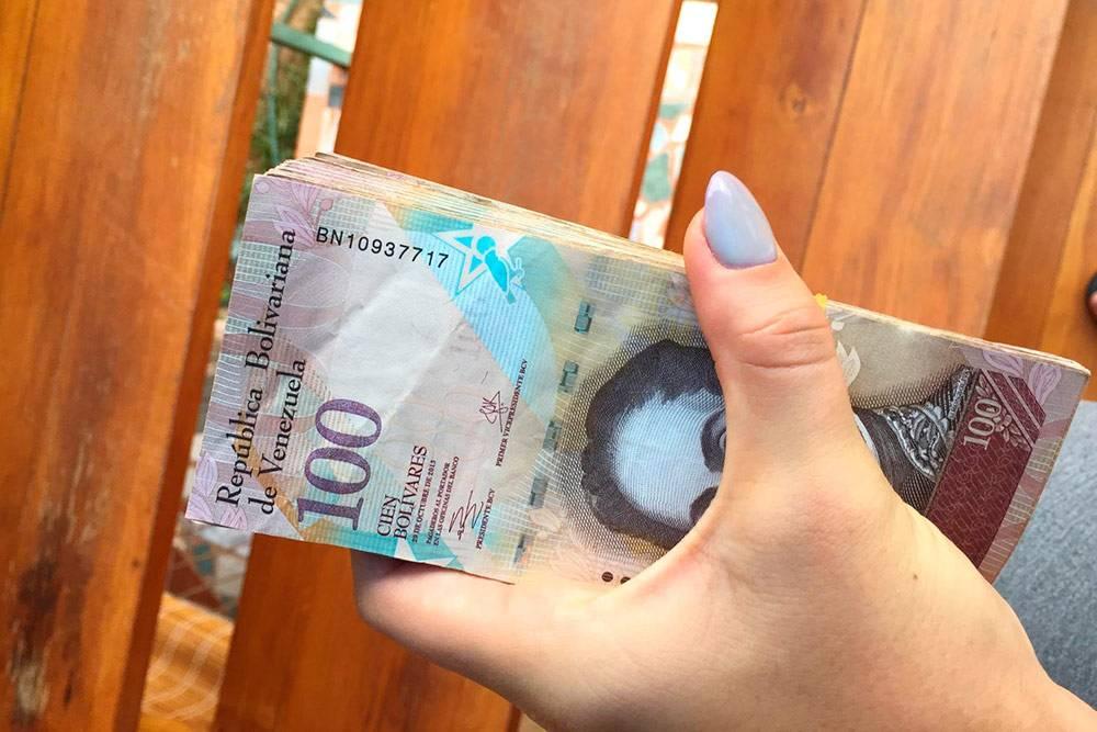 Венесуэльский боливар. Нафото ядержу вруке среднюю зарплату венесуэльца — эквивалент10$