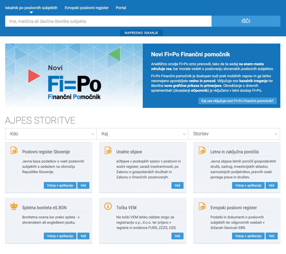 Информация обо всех компаниях Словении, включая их годовую отчетность, есть в открытом доступе на сайте AJPES