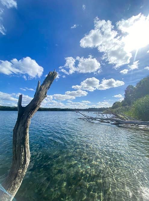 На озере не было никого, кроме нас. Источник: Маша Забияко