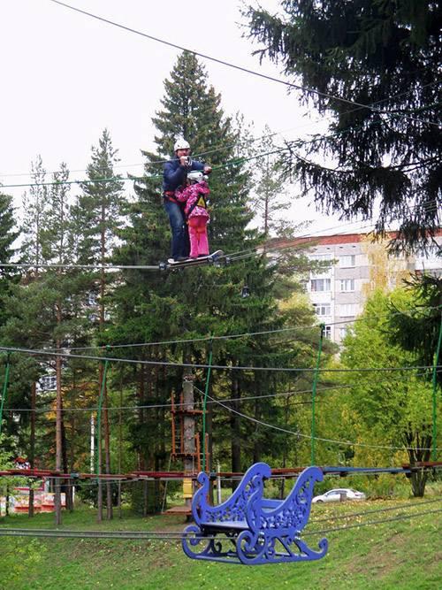На природе сложнее: добраться до посетителя на верхушке дерева не так просто