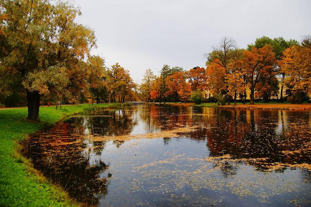 В отличие от Екатерининского парка, в Александровском лежат на траве, устраивают пикники и гоняют на велосипедах. Охрана слова не скажет