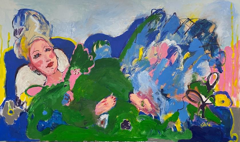 Эта картина художницы Адель Левитовой продается в Oily Oil за 200 000<span class=ruble>Р</span>
