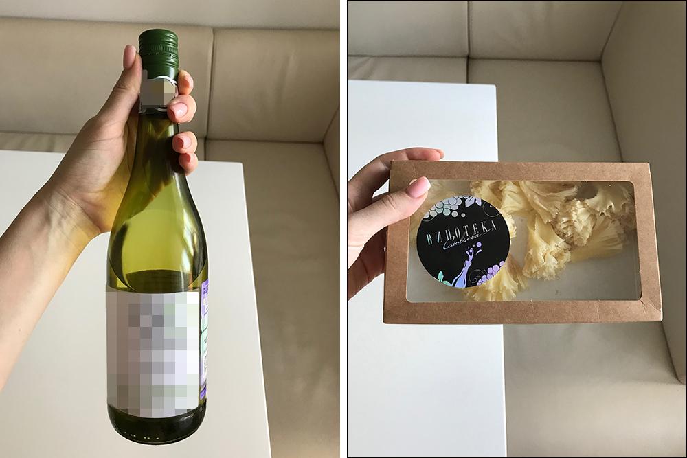 Белое вино и сыр я покупаю в «Винотеке Соловьева». Там работает мой лучший друг, который помогает мне с выбором