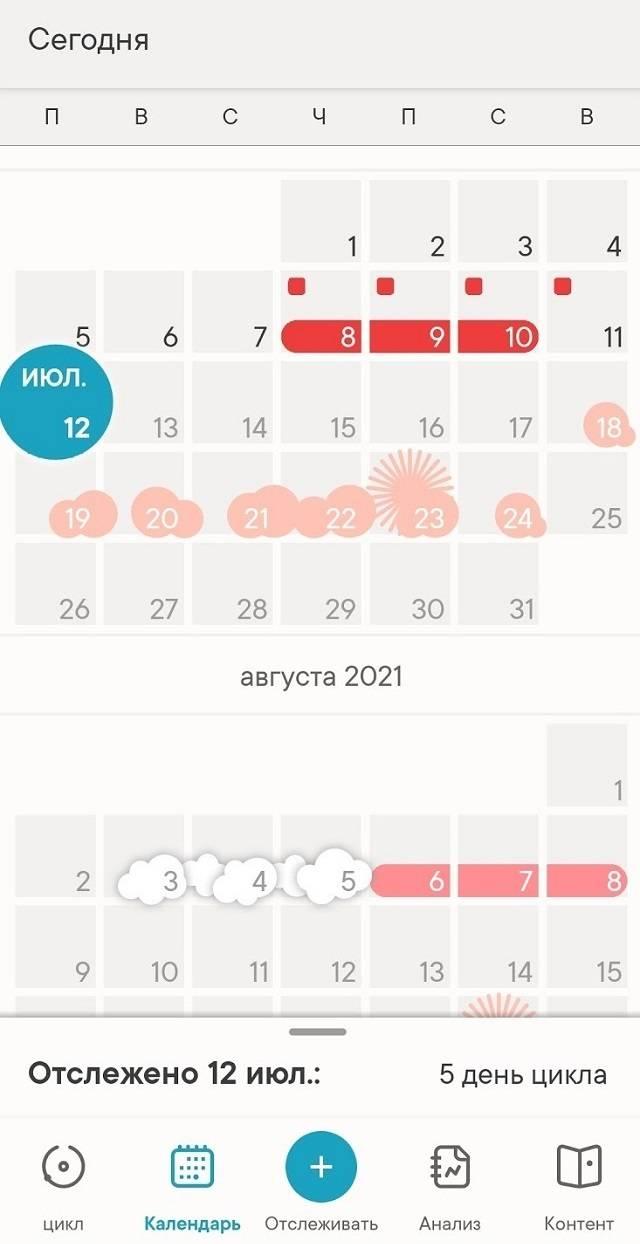 Еще они предсказывают день начала следующих месячных на основании данных опродолжительности менструального цикла занесколько месяцев