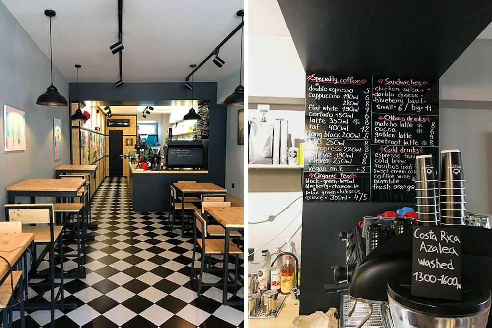 Кофейня «Рино» на Мемеда Абашидзе — одно из немногих мест в Батуми, где делают европейские виды кофе