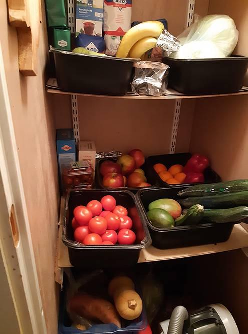 Наш стенной шкаф дляовощей и фруктов