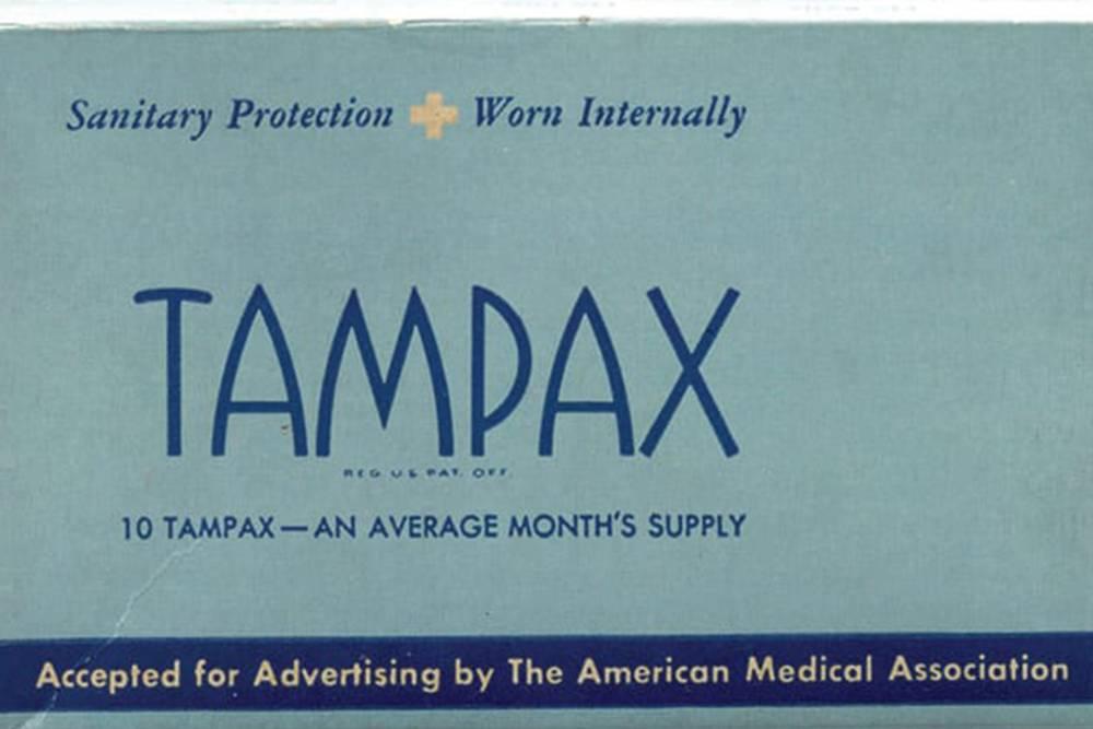 Первая реклама компании Tampax. Источник: tampax.com
