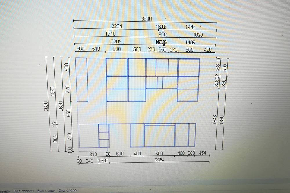 На проекте линии ближе к рисунку показывали размеры модулей. На остальные я не обращал внимания. В целом программа мне не помогла: тоже самое я мог начертить и на бумаге