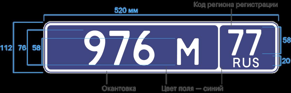 Знак типа 21. Дляприцепов и полуприцепов МВД и Росгвардии