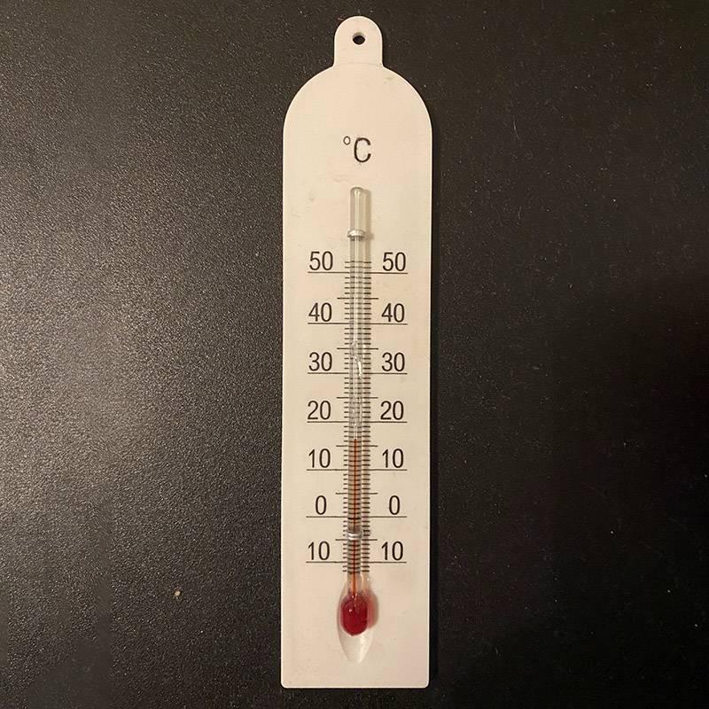 Температура в комнате сегодня такая. Жду потепления