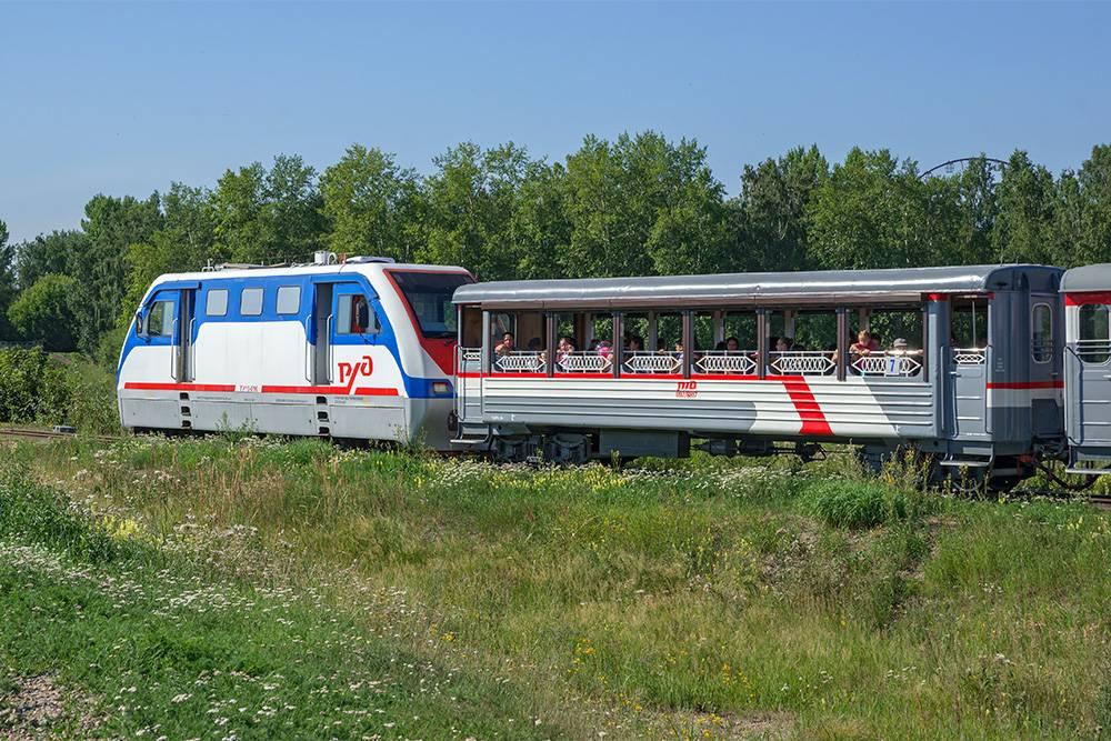 Вот так выглядит поезд на детской железной дороге. Источник: ALEKSANDR RIUTIN / Shutterstock