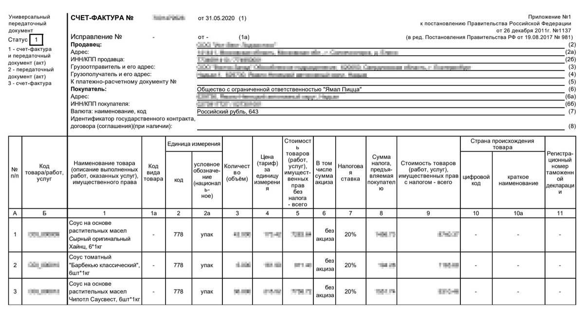 Накладная от поставщика, в которой я подтвердил расходы по субсидии. Субсидия невозвратная, но если ее потратить на иные цели, придется возвращать