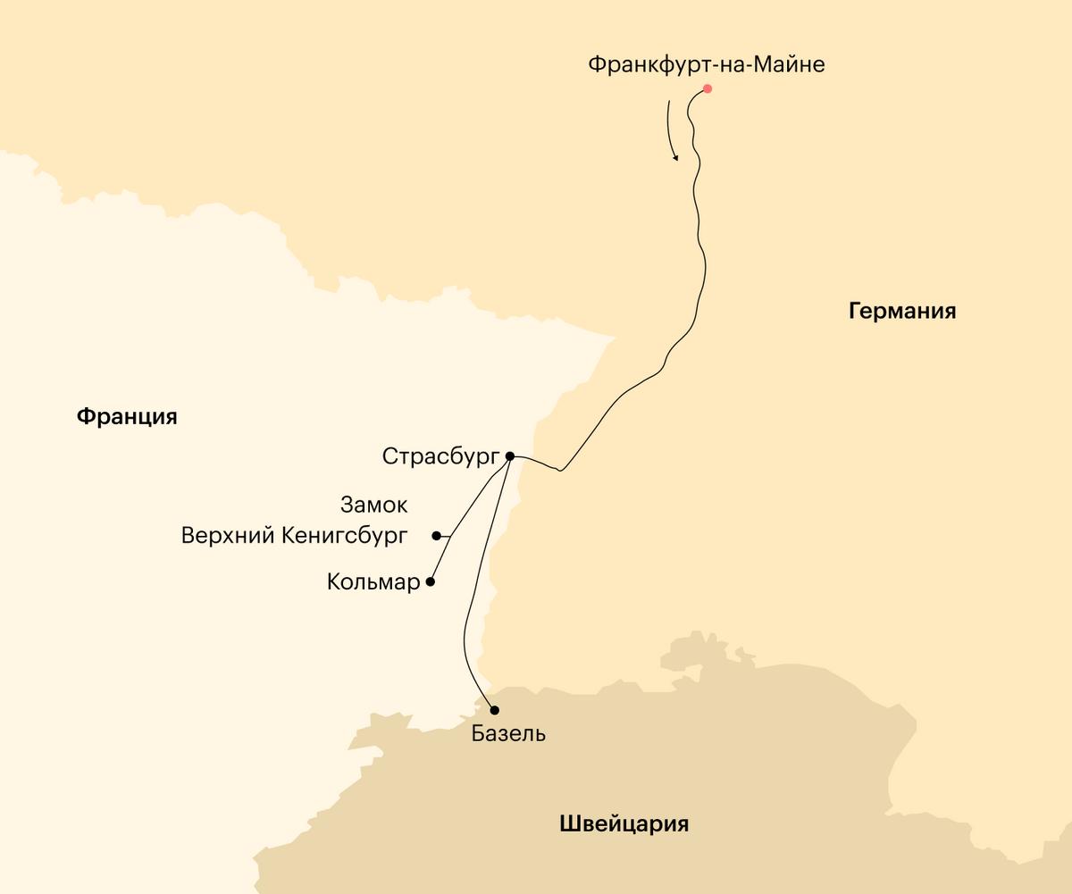 Карта нашего путешествия
