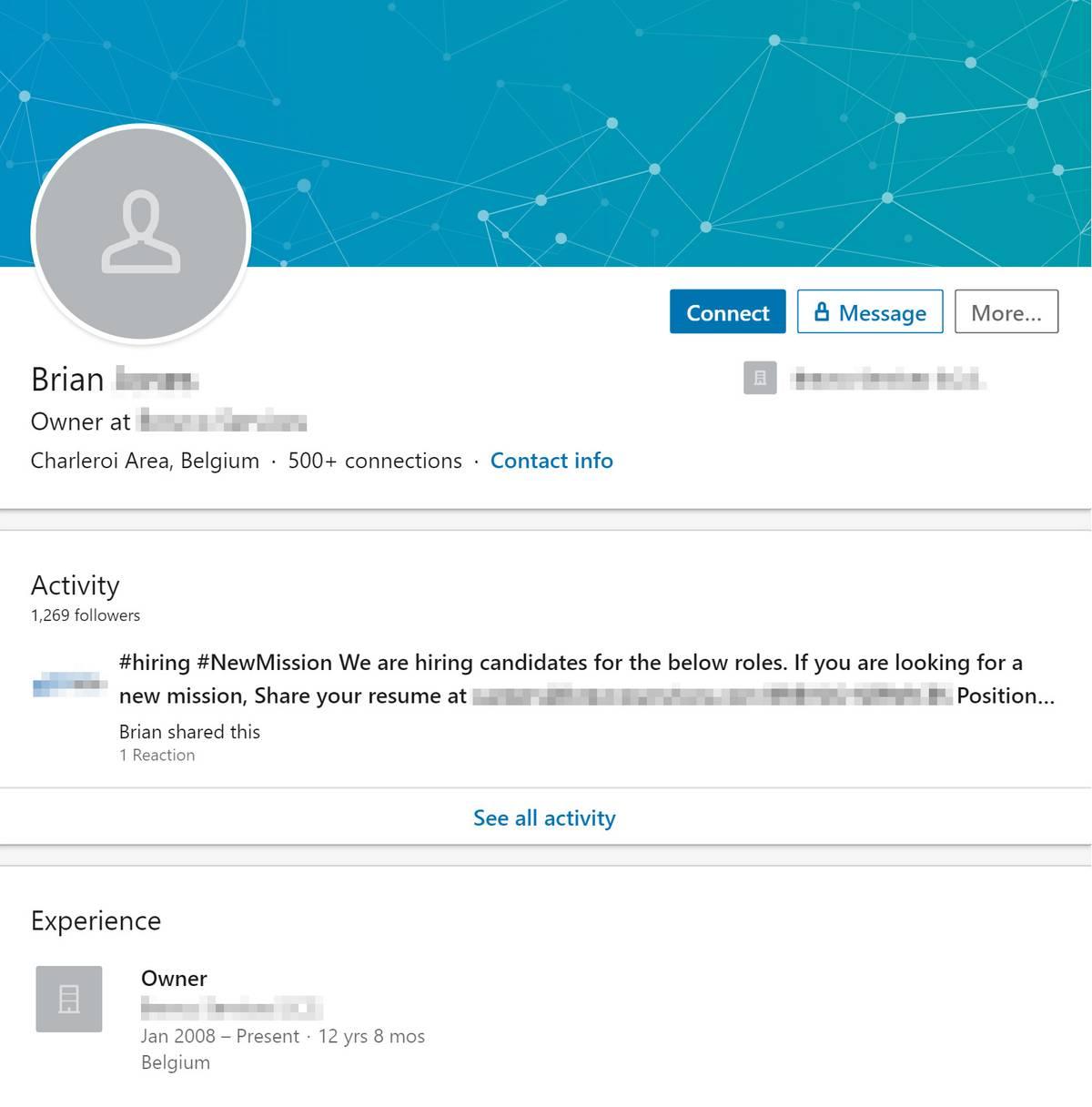Профиль Брайана: американца, который живет в Бельгии и управляет болгаро-румынской компанией с представительством в Словении. Глобализация — это хорошо, но иногда она прикрывает непорядочных работодателей