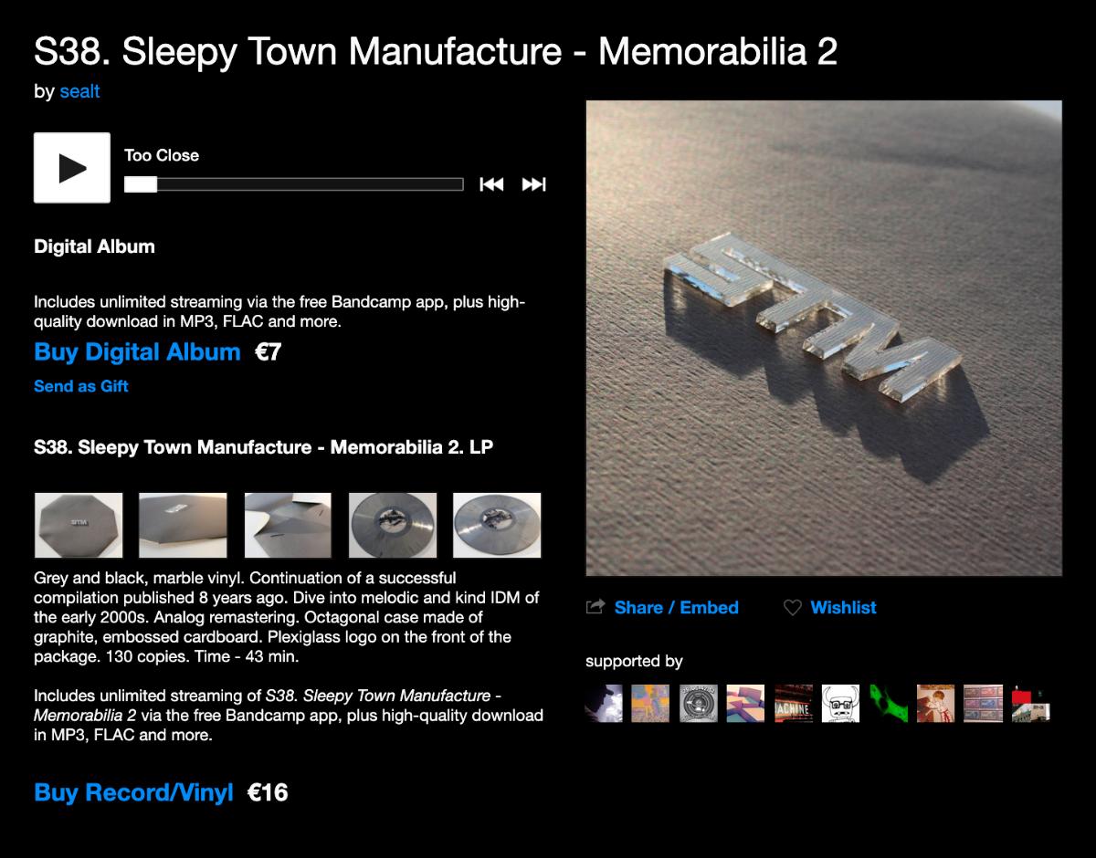 На странице альбома можно бесплатно прослушать все треки, но чтобы скачать их в хорошем качестве, надо заплатить 7€ (630<span class=ruble>Р</span>). Альбом на виниле обойдется еще дороже — в 16€ (1440<span class=ruble>Р</span>). Нажимаю на кнопку Buy Digital Album